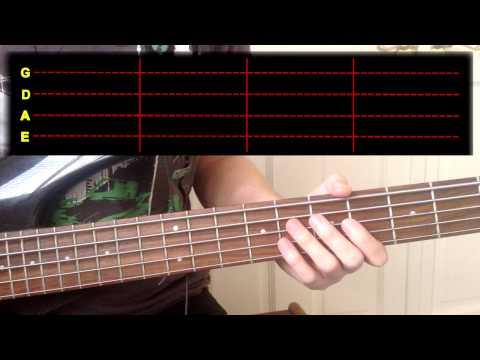 Gorillaz - Feel Good Inc Bass Cover (With Tab)