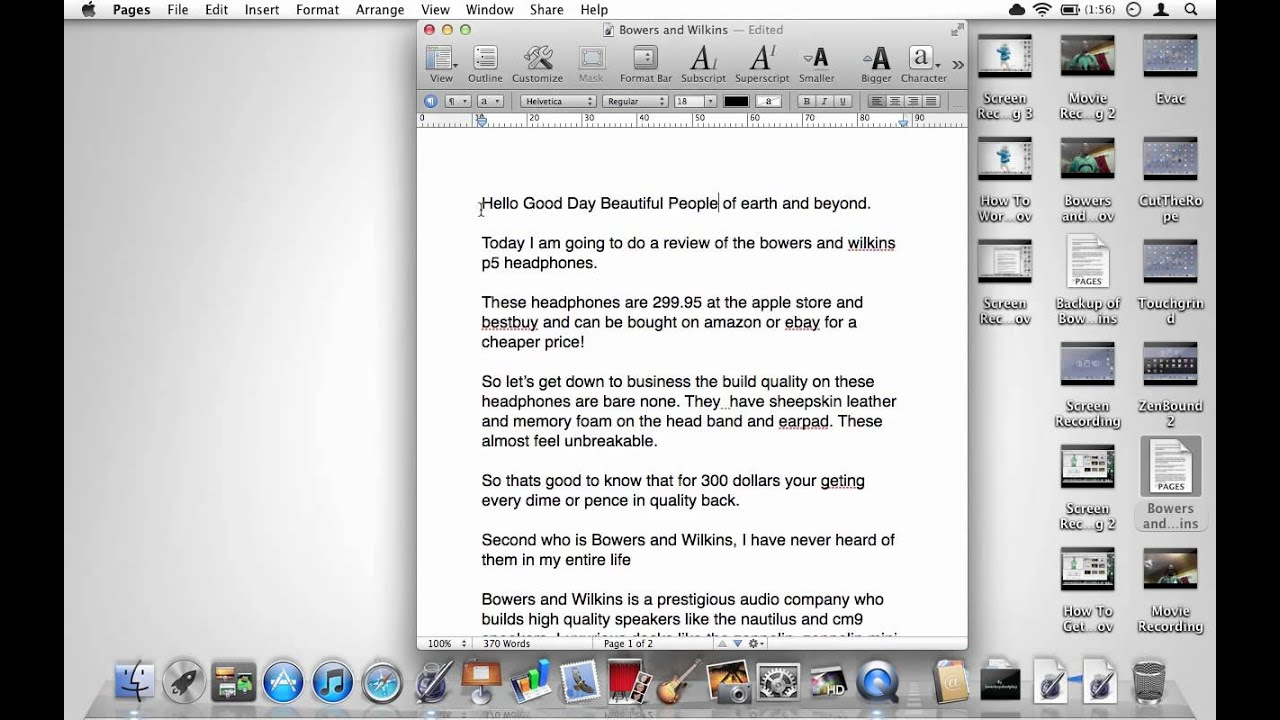 Apple iwork pages page layout tutorial pt1 youtube.