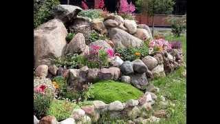 Easy building a rock garden