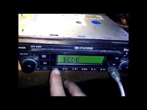 HYUNDAI MP3 05G sequrity code enter - YouTube