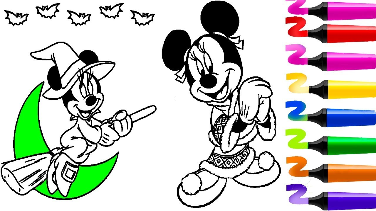Top 5 Coloriage Mickey Mouse!Compilation Coloriage Mickey!Coloriage Magique!Dessin Facile
