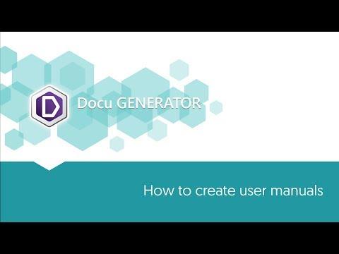 Create User Manuals With Docu Generator