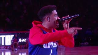 super kyle performing the clippers halftime