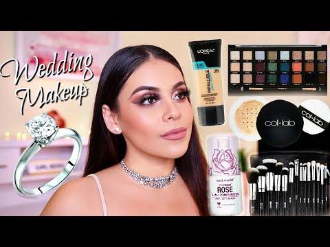 DRUGSTORE Bridal Makeup Tutorial Using Affordable Makeup Brushes / TIPS & TRICKS! | JuicyJas
