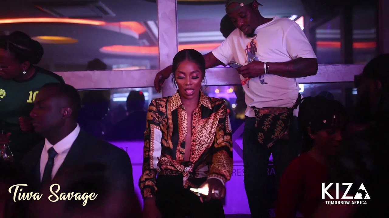 TIWA SAVAGE PARTIES AT KIZA LOUNGE