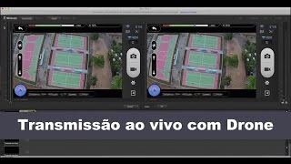 Transmissão ao vivo com Drone, Simple Live Transmission / Broadcast using Drone - DJI Phanton Vision