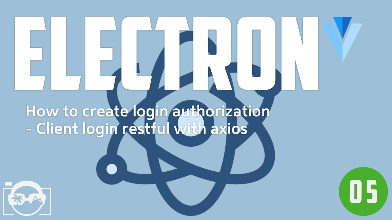 Create login authorization with Eletron and Python - Client login restful  axois (x)