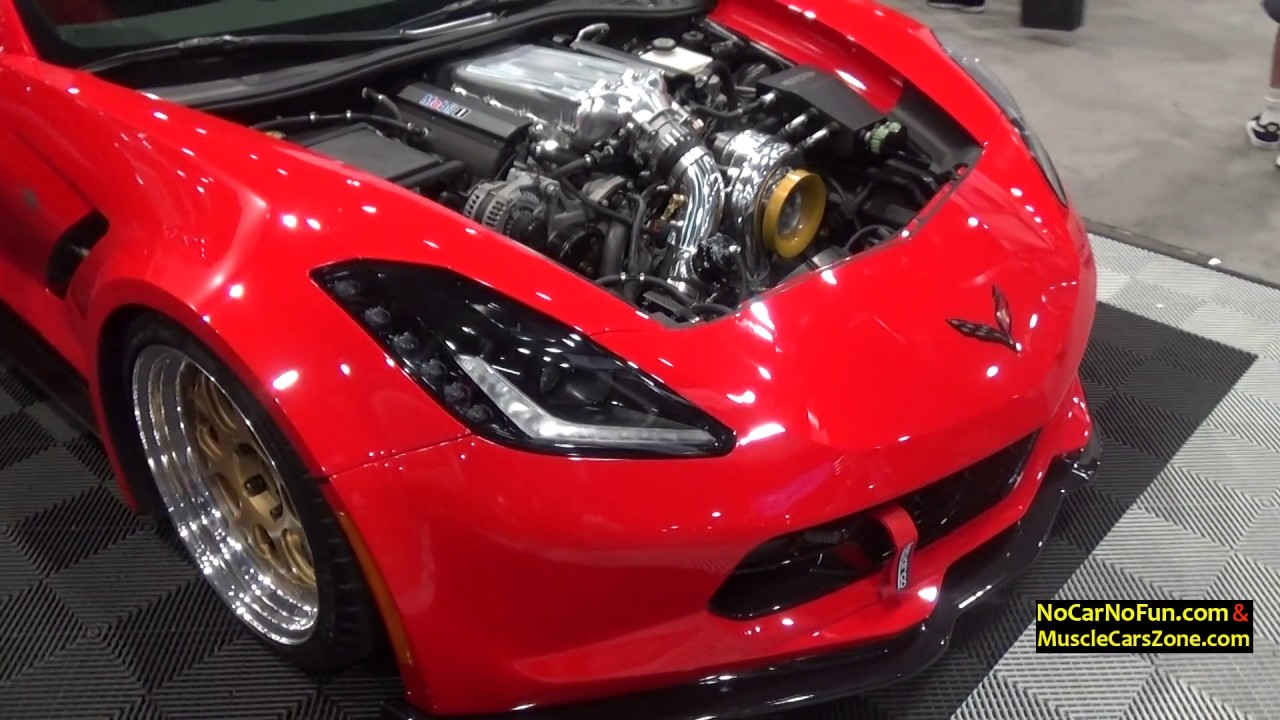Chevrolet Corvette Stingray >> Red Custom Chevrolet Corvette C7 Stingray LSX - 2016 Sema Show in Las Vegas - YouTube