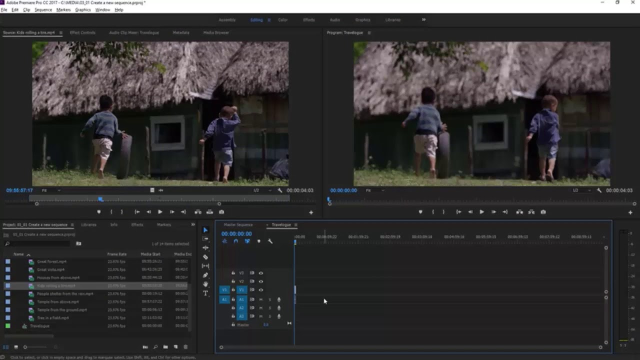 Create a new sequence | Learn editing skills 1 | Premiere Pro