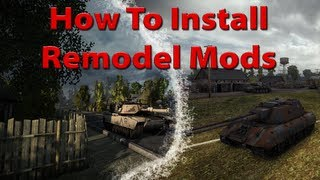 World of Tanks How To Install Remodel Mods [M1 Abrams 8.7|Deutsch] Tutorial Samstag #001