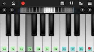 عزف اغنية balti ya lili على الهاتف perfect piano