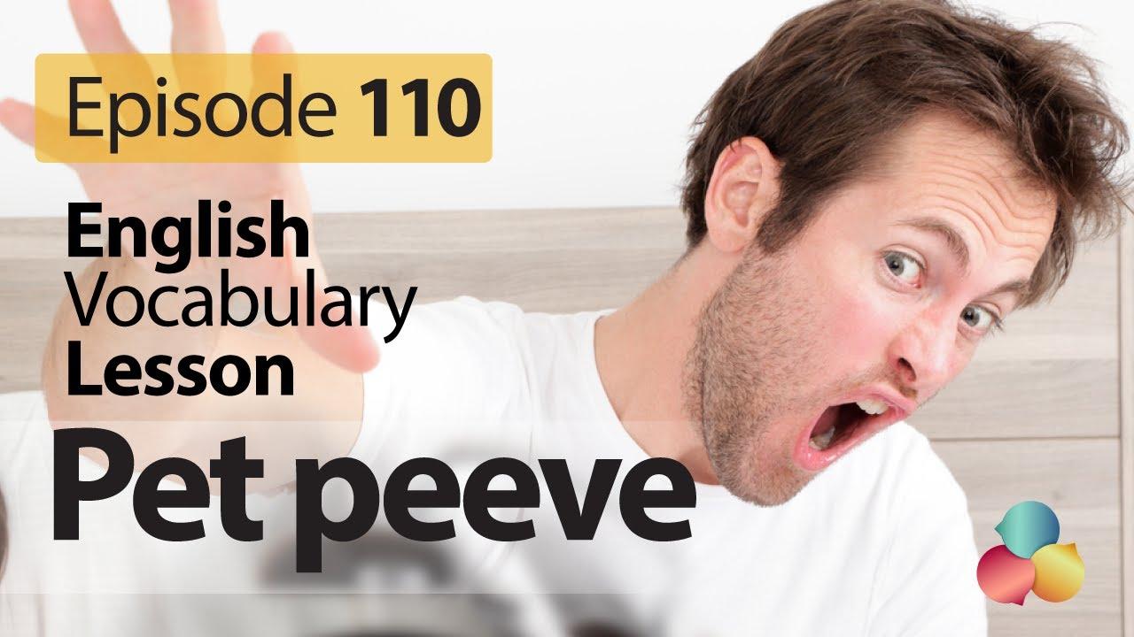 pet peeve english vocabulary lesson english pet peeve english vocabulary lesson 110 english speaking lesson