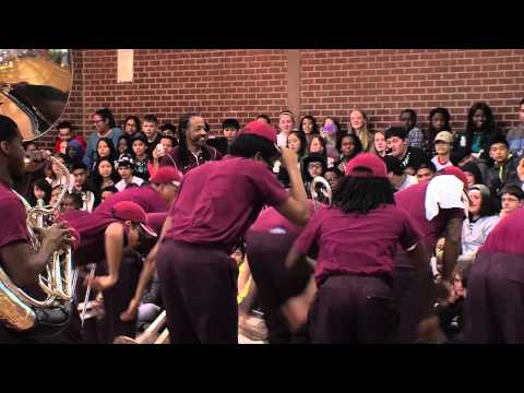 TSU Band Plays for George Middle School