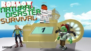 Roblox NATURAL DISASTER SURVIVAL 02 - WEATHER MACHINE CAUSES MULTI-DISASTERS!