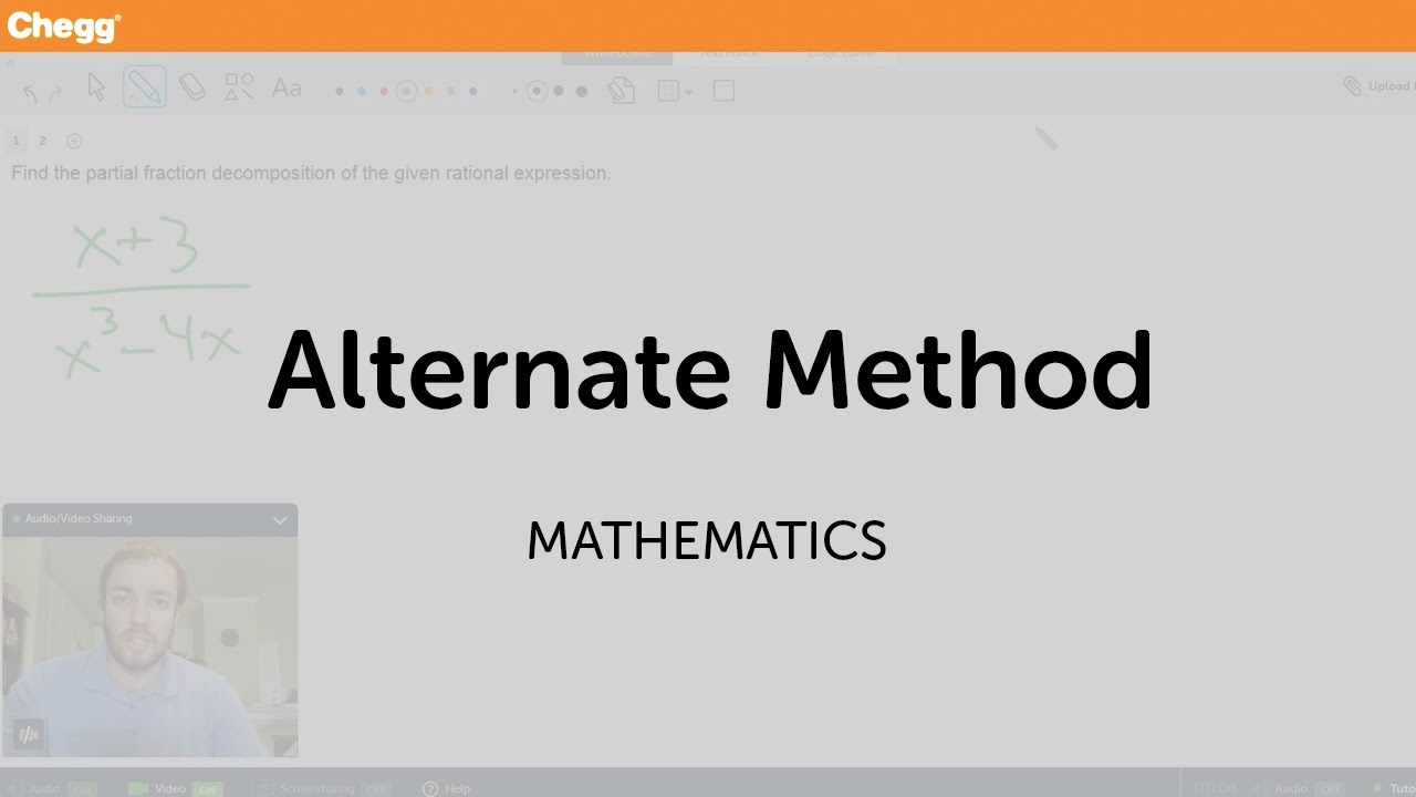 Alternate Method | Math | Chegg Tutors