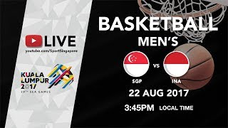 Basketball Mens Singapore 🇸🇬 vs 🇮🇩 Indonesia | 29th SEA Games 2017
