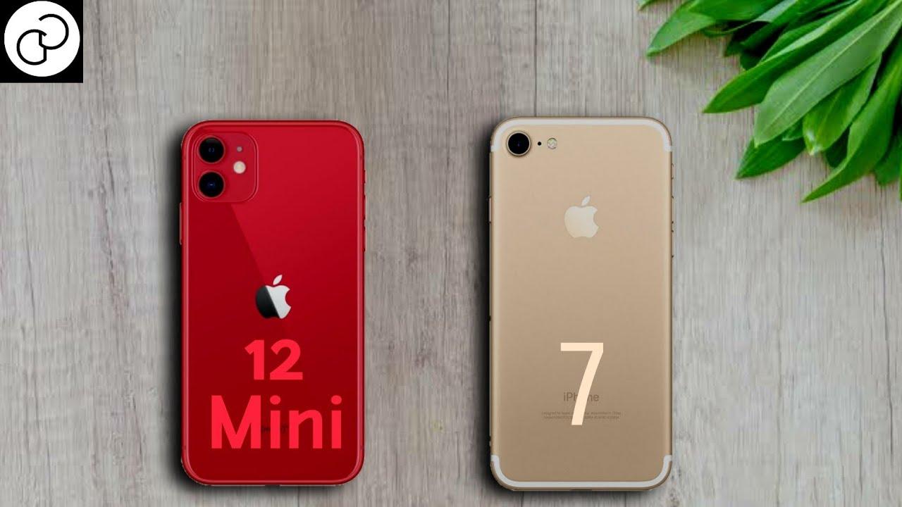 Iphone 12 Mini Vs Iphone 7 Size Youtube