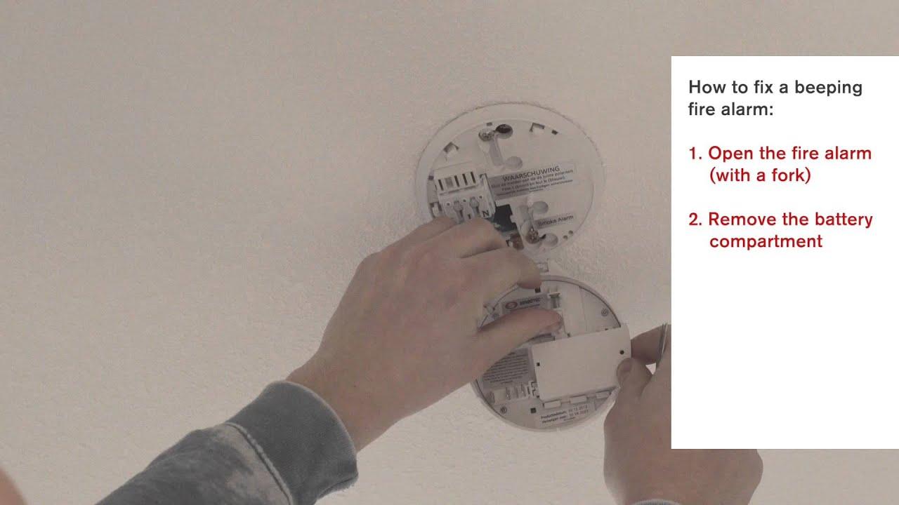 How To Fix A Beeping Smoke Detector Studio Maintenance Youtube