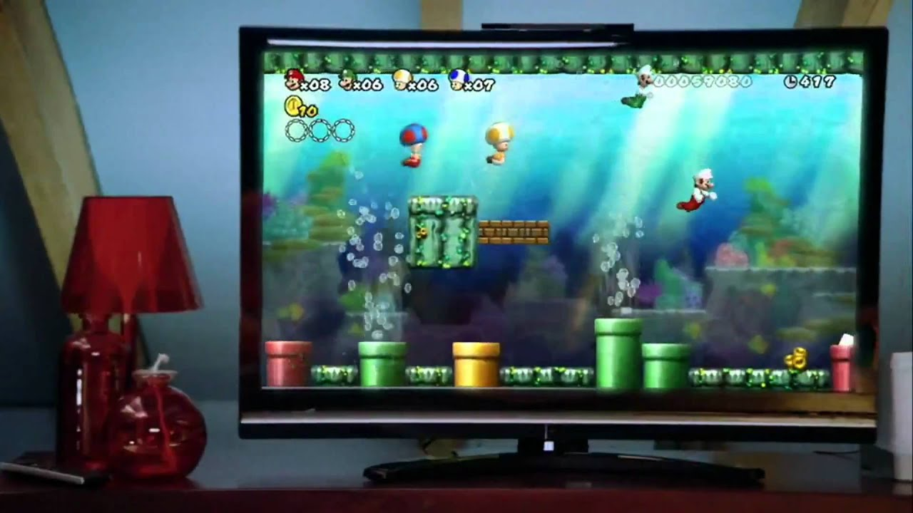 New Super Mario Bros Wii Usa Tv Commercial Youtube