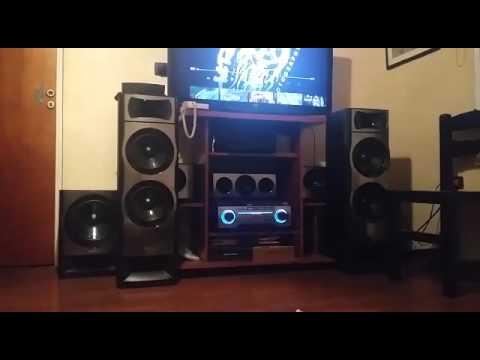 Sony muteki 5 2 ht m55 test bass youtube for Mueble muteki 5 2