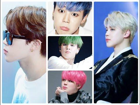 Jimin BTS 2017  The most beautiful hairstyle  Bạn biết bao nhiêu màu tóc của Pặc Chim?   Những kiểu tóc nam dẫn đầu xu hướng