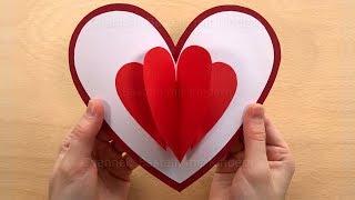 Baixar Pop Up Karten mit Herz basteln mit Papier - Bastelideen zum DIY Geschenke selber machen