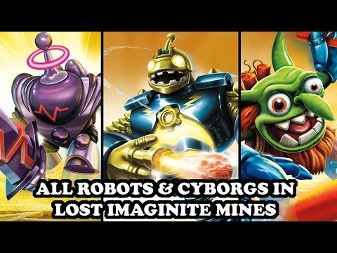 Skylanders Imaginators - All Robots & Cyborgs in Lost Imaginite Mines Level GAMEPLAY