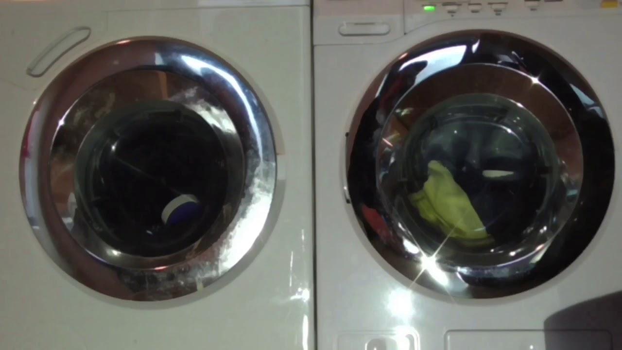 miele w1 powerwash twindos vs miele softtronic w4146 toy wash race spin youtube