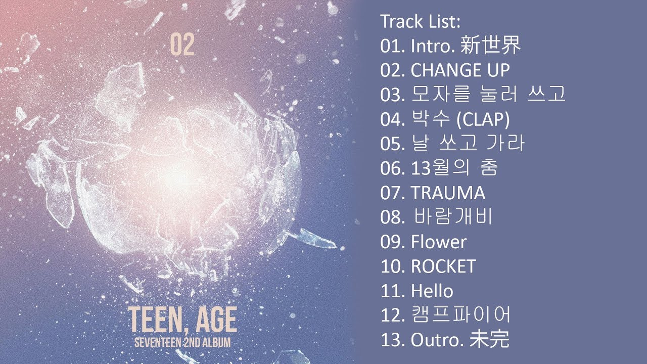 [Full Album] SEVENTEEN – TEEN AGE Album