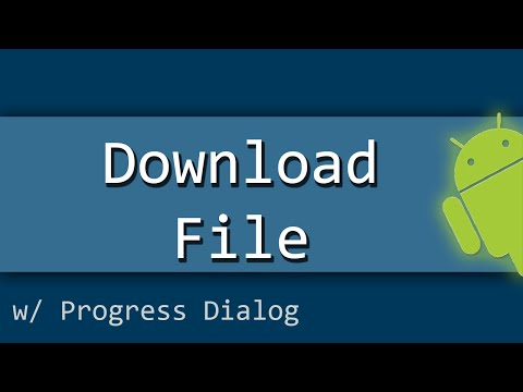 How To Download A File And Show The Progress Dialog In Android