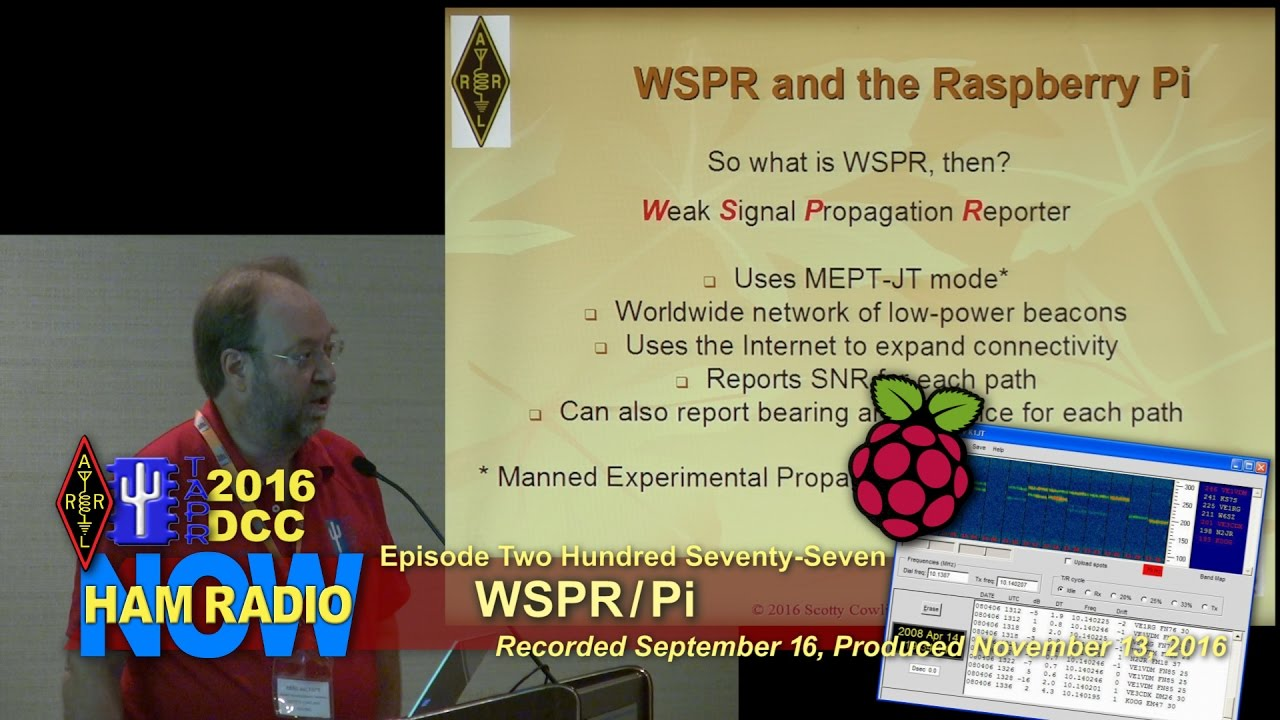 HRN 277: WSPR and the Raspberry Pi from the 2016 DCC on HamRadioNow