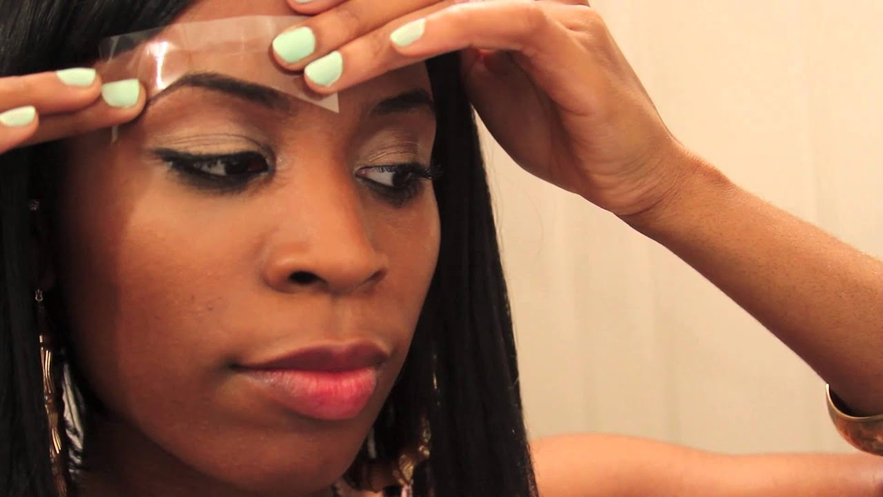 Diy Waxing Your Eyebrows At Home Youtube