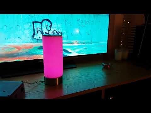 LED Music Reactive Lamp 4K video (prototype)