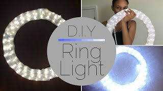 How To | Make A Ring Light Under $20 | DIY | CleoTalks