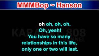 MMMBop ~ Hanson ~ New Karaoke ~ Karaoke 808