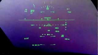 B787 HUD Approach and landing single engine - sim