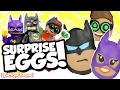 LEGO BATMAN MOVIE Giant Surprise Eggs with Robin, Batman & Batgirl + Lego Batman Toys Collection