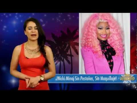 !Nicki Minaj Sin Pestañas, Sin Maquillaje!