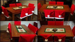 Capa Natalina para cadeiras por ModaByNill