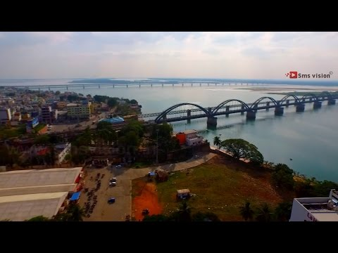The loving Rajahmundry (Aerial video of rajahmundry East Godavari By |Vishnu M Shenoy|