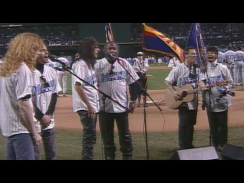 National anthem performed before first D-backs game in 1998