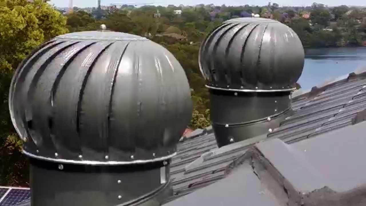 Roof Ventilator Closeup Spinning Whirlygig Youtube