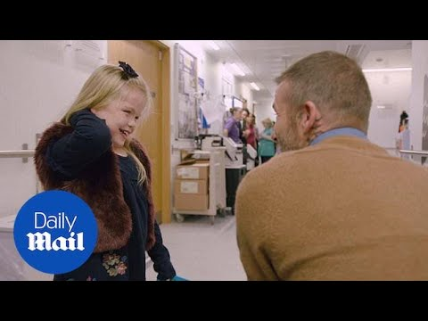 David Beckham gives young Pride of Britain winner a surprise visit