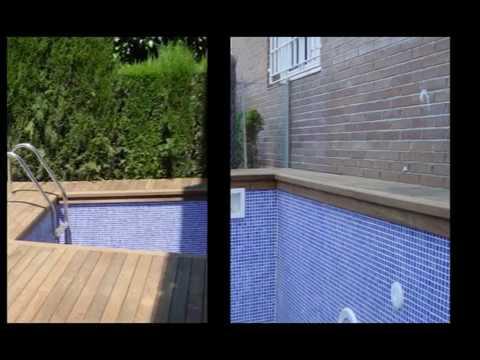 Instalación De Tarima De Madera En Terraza Con Piscina En Alella De Mar