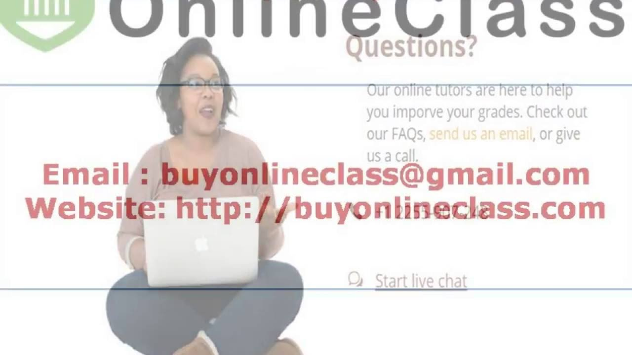 Pay someone to take your online class