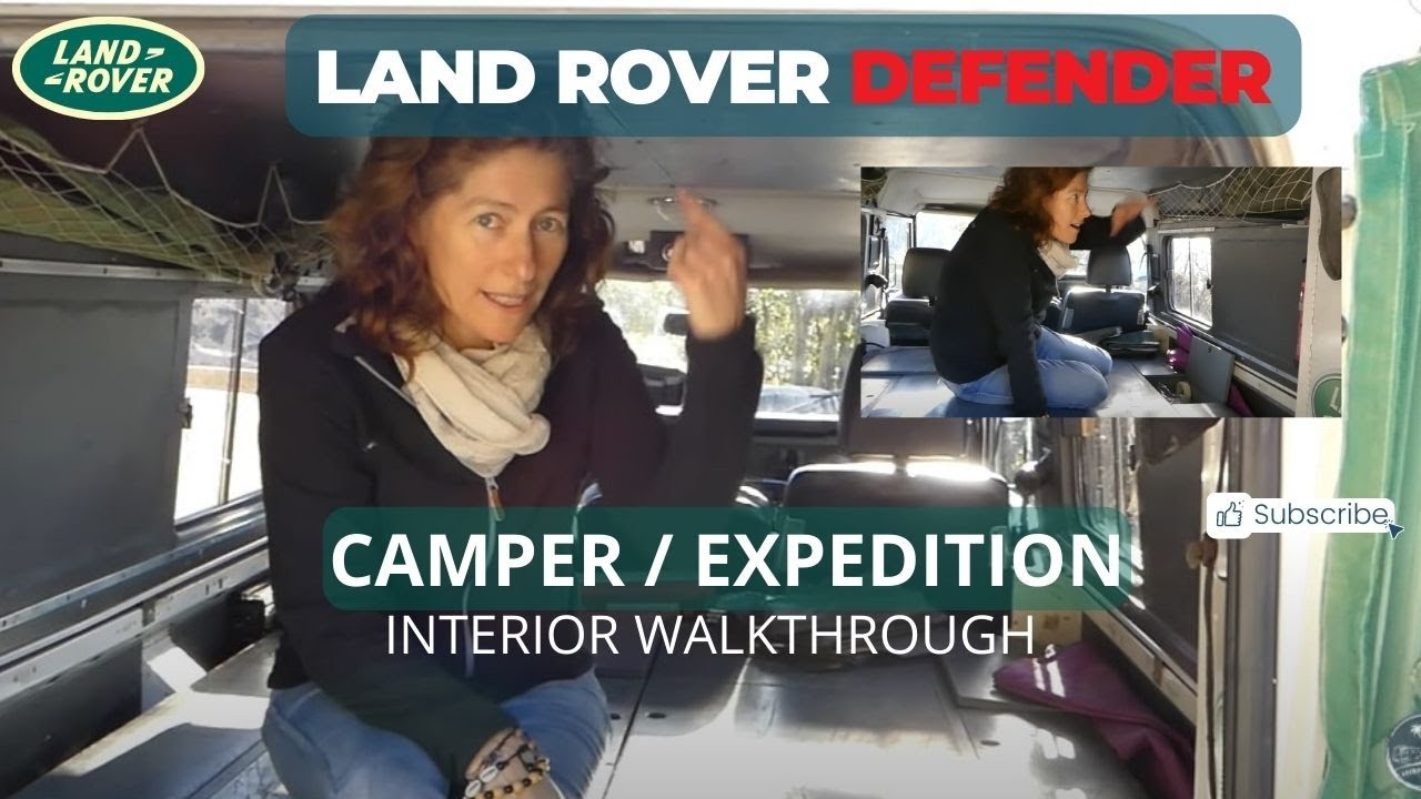 Land Rover Defender 110 Overland/Camper pt2 Interior - YouTube
