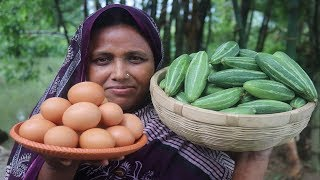 Village Food Dim Potoler Jhol Recipe Farm Fresh Pointed Gourd With Egg Curry Healthy Parwal Cooking
