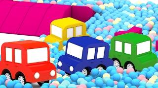 Lehrreicher Zeichentrickfilm - Die 4 kleinen Autos - Überraschung auf der Rennstrecke