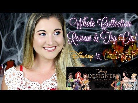 Colourpop Disney Designer Collection | Review Swatches \u0026 Tutorial!