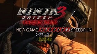 New World Record Ninja Gaiden 3: Razors Edge New Game Speedrun 2:27:42